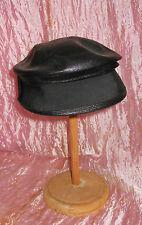 Cappello paglia intrecciata e nastro nero V4 vintage Fascinator Chapeau ^