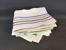Set of 6 Napkins Vintage Fabric Antique Linen? Dishcloths Old Towels