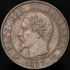 More details for 1853 w | france napoleon iii 5 centimes | bronze | coins | km coins