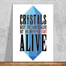 PERSONALISED ROMANTIC CARD - Crystal final fantasy anniversary valentine's love