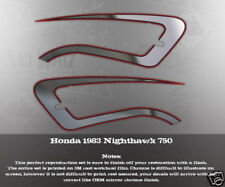 1982 HONDA NIGHTHAWK CB750 TANK ONLY DECAL SET