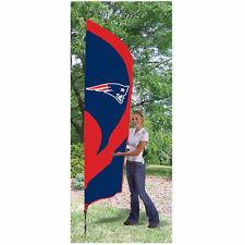 Party Animal Ttne England Patriots Tall Team Flag W/pole 102l X 30 W Nylon