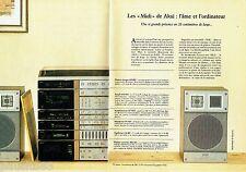PUBLICITE ADVERTISING 106  1983  Akai  (2p)  les midis  platine ampli synthonise
