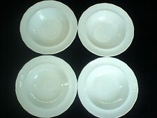 Swinnertons Luxor Vellum 837606 White/Cream Embossed Rim 6 1/2 inch Bowl x4 1946