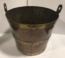 "Vintage R Martinez Copper & Brass Pail 6.5"" X 5.25"""