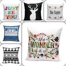 White Linen Cotton Cushion Throw Pillow Covers Home Decor Soft Children Play Oz