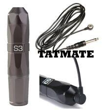 GUNMETAL S3 Gem Style Cartridge Rotary Tattoo Machine-PEN STYLE- (Magnetic Cord)
