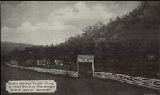 Martin Springs TN Tourist Camp Postcard