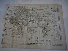 "Antique Map ""India Ptolmaei"" inset of how India was depicted by Erathosthenes."