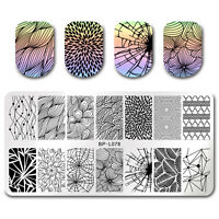 Nail Stamping Plate Line Net Rectangle Nail Art Template DIY Born Pretty BP-L078