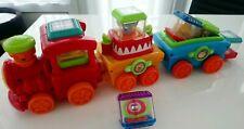 Fisher Price Peek A Boo Blocks Train Set And 6 Circus Blocks (Rare)