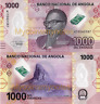 ANGOLA 1000 Kwanzas, 2020 Prefix A - Luvili Hill in Huambo, New Polymer, UNC