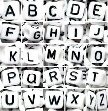 100 sets of 26 alphabet letters from A to Z, options for beads shape and colors