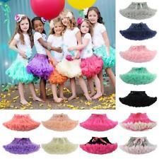 Girl Kids Lavender Pettiskirt Tutu Fluffy Skirt Dance Party 2-9 Years TUTU004
