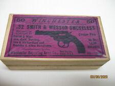 Rare New Mint Unused 1915 Winchester 32 S&W Ammo Box storage tray DAD Vintage