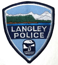 LANGLEY WASHINGTON WA Sheriff Police Patch RIVER MOUNTAINS USED ~