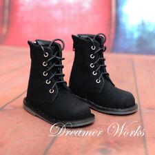 Matte Black  Mimi Collection MSD Doc 1/3 Uncle BJD Obitsu Doll Shoes Strap Boots