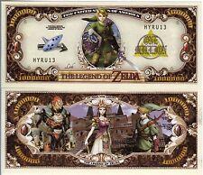 The Legend of Zelda Video Game Series Million Dollar Novelty Money