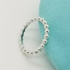 Tiffany & Co. Sterling Silver Ziegfeld Bead Beaded Stacking Band Ring Size 7