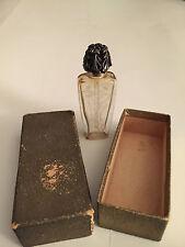 Antique La Castillere Paris Glass Silver Top Perfume Bottle original box PARIS