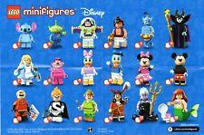Lego 71012 Minifiguren Serie Disney 1 - Satz komplett - alle 18 Figuren (neuw.)