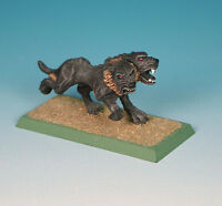 Painted  ~ Chaos Hound #2, Warhammer two-headed dog, oop Marauder miniature MM93