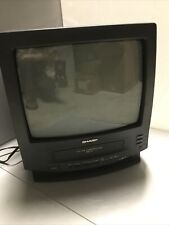 """SHARP 13VT-J100 13"""" Color TV VCR Combo VHS Recorder as is - For Repair or Parts"""