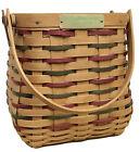 Longaberger Employee Christmas Tiny Tote Basket 2002