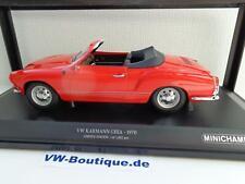 + VOLKSWAGEN VW Karmann Ghia Cabrio in 1:18  Minichamps 1970 rot 155054030
