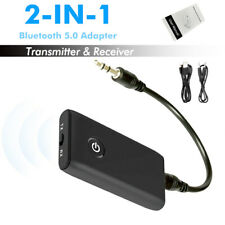Bluetooth Transmitter Receiver 2-in-1 Wireless Adapter One Button Mode Change UK
