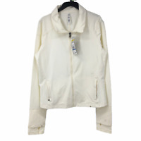 Under Armour Womens White Full Zip Long Sleeves Collared Regular Jacket XL