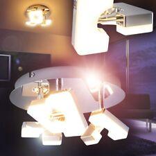 LED Lámpara de techo circular cromo focos ajustables dormitorio cocina pasillo