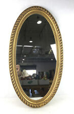 Vtg. Ornate Oval Wall Mirror Lot 3375