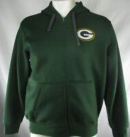 Green Bay Packers Men's Full-Zip Green Knit Jacket NFL Team Apparel XL