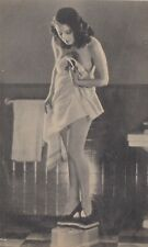 """"""" bathroom scale  beauty """"-1940s   PIN-UP/CHEESECAKE  model  RISQUE picture card"""