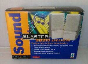 Vintage Gaming Creative SBS10 Sound Blaster Speakers NOS PLEASE READ