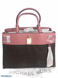NWT Michael Kors Gramercy Large Satchel Bag Rose 2 Toned Rare Color MSRP $358