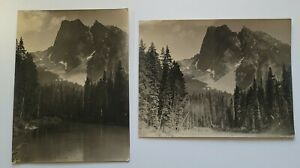Banff Canada 1930 Mt Burgess Emerald Lake b/w photos