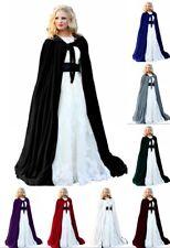 Black Wrap With Hood Wedding Cloak Bridal Coat Long Winter Velvet Bolero Women