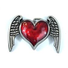Gürtelschnalle Buckle für Wechselgürtel Modell Flying Heart