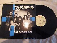 "WHITESNAKE 12"" GIVE ME MORE TIME bp 422 rare factory sample ......45rpm / rock"