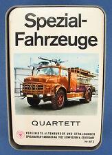 Quartett - Spezial-Fahrzeuge - ASS - Nr. 672 - von 1968 - Busse, LKW Kartenspiel
