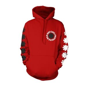 Red Hot Chili Peppers 'Classic Asterisk' Red Pullover Hoodie - NEW OFFICIAL