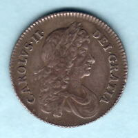 Great Britain. 1668 Charles 11 - Shilling..  VF/VF+