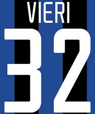 Inter Milan Vieri Nameset Shirt Soccer Number Letter Heat Print Football H 02