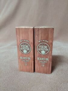 2x Viking Revolution Beard Oil Sandal Wood Scent 1 Oz. New Sealed 100% Natural