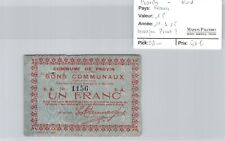 Nord Provin 1 Francs 11.3.1915 n° 1156 manque Pirot ?