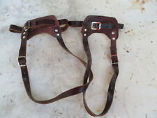 PAIR OF LEATHER BINDINGS FOR SNOWSHOES NEW CONDITION