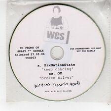 (FU606) SixNationState / OX, split single - 2006 DJ CD