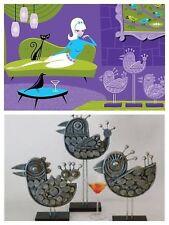 SHAG (Josh Agle) Pecking Order and Bird Sculptures LE 100